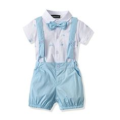 Ferenyi US Baby Boys Bowtie Gentleman Romper Jumpsuit Overalls Rompers Blue for sale online Baby Outfits, Sport Outfits, Boy Shorts, Overalls, Clothing Tags, Boy Clothing, Really Cute Outfits, Suspender Pants, Designer Baby Clothes
