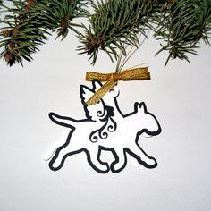 Bull Terrier Christmas tree decoration  Caspar by PSIAKREW on Etsy