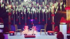 Beautiful Wedding Stage Decor by 3Production Weddings