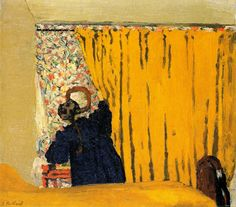 le rideau jaune'' Edouard Vuillard