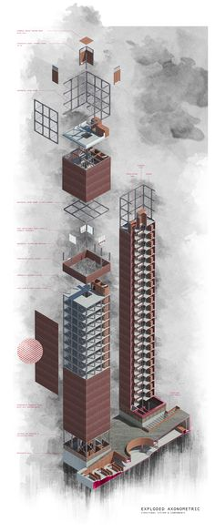 COLUMBARIUM IN THE COMMUNITY – S//A Architecture Concept Diagram, Architecture Drawings, School Architecture, Sustainable Architecture, Landscape Architecture, Axonometric Drawing, Exploded View, 3d Modelle, National University Of Singapore