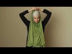 YouTube New Hijab Style, Hijab Turban Style, Mode Turban, Pashmina Hijab Tutorial, Hijab Style Tutorial, Stylish Hijab, Hijab Chic, Cara Hijab, How To Wear Hijab