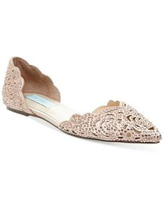 Blue by Betsey Johnson Lucy Embellished Flats $99.00 Cutouts and rhinestones create the feel of sparkling lace in these Lucy flats from Blue by Betsey Johnson.