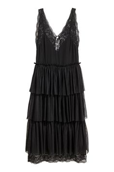 V-neck dress - Black - Ladies | H&M 2