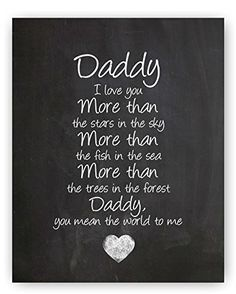 """Daddy Poem Chalkboard Print by Ocean Drop Photography (8x10"""") - Thoughtful Gift for Dad & the Perfect Father's Day Gift - Beautiful Typography Artwork - Ready to Hang, Hanger Included - http://centophobe.com/daddy-poem-chalkboard-print-by-ocean-drop-photography-8x10-thoughtful-gift-for-dad-the-perfect-fathers-day-gift-beautiful-typography-artwork-ready-to-hang-hanger-included/ -"""