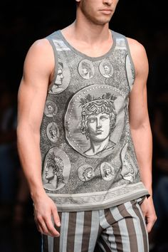 Dolce & Gabbana Spring 2014: Honor the Pantheon with hundred dollar tanks. Not symbolic at all y'all.
