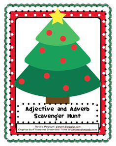 Pitner's Potpourri: Adjective and Adverb Scavenger Hunt - Freebie
