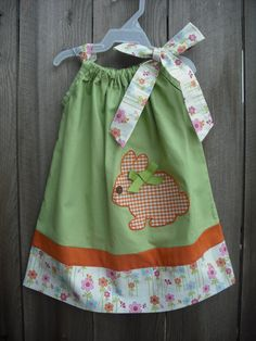 Easter Bunny Pillowcase Dress / handmade by AllissonsCreations, $26.00