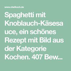 Spaghetti mit Knoblauch-Käsesauce, ein schönes Rezept mit Bild aus der Kategorie Kochen. 407 Bewertungen: Ø 4,2. Tags: einfach, gekocht, Hauptspeise, Käse, Nudeln, Schnell, Vegetarisch