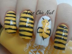 Bumblebee Nail Design. With a better bee nd lines though