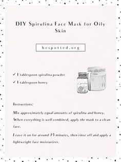 Jan 2020 - These days lots of people use spirulina supplements. But did you know you can also use it topically to improve your complexion? Spirulina face mask benefits your skin in many ways. Read on and find Mask For Oily Skin, Skin Mask, Acne Oil, Face Mapping, Acne Causes, Spots On Face, Diy Face Mask, Face Masks, How To Get Rid Of Acne