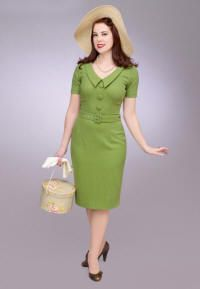 Vanessa day dress in light green-getgoretro
