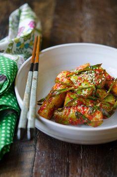 How to make Easy Cucumber Kimchi, Ooi-kimchi (오이김치)