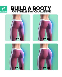 BUILD A BOOTY Built your booty at home with these four exercises that will target your butt muscles in order to get that booty goal. Start you lifted, toned, shaped and sexy butt journey now. Fitness Workouts, Fitness Herausforderungen, Gym Workout Videos, Fitness Workout For Women, Butt Workout, At Home Workout Plan, At Home Workouts, Mini Workouts, Motivation Yoga