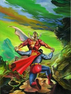 Captain Marvel vs Superman, in the June or Magical Creatures/characters Comic Art Sketchbook Captain Marvel Shazam, Marvel Vs, Marvel Dc Comics, Shazam Comic, Superman Art, Superman Man Of Steel, Batman, Justice League, Comic Books Art