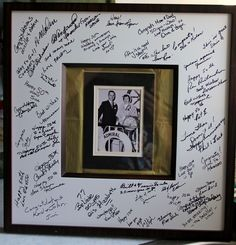 Have each guest write a short note to G & G and have their first picture together in the picture frame.