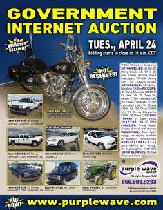 Government Auction  April 24, 2012  http://purplewave.co/120424