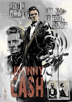 Johnny Cash poster by vitorgorino Johnny Cash Poster, Johnny Cash Tattoo, Johnny Cash Quotes, Rock And Roll, John Cash, Musica Country, Johnny And June, Alternative Rock, Carter Family