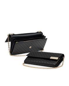 Gucci Dice Microguccissima Leather Chain Wallet Black $595
