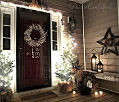 I like the house numbers on the door. have to do this after i decide what color to paint front door