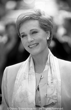Julie Andrews. She was one of the subjects of a series of TV interview shows I wrote for the Mark Taper Forum in L.A., although I saw her quite often on the Fox lot when I worked there.