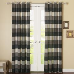 Best Home Fashion, Inc. Bold Check Grommet Curtain Panel