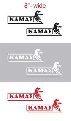 "2pcs 8""wide KAMAZ Vinyl Sticker Decal Graphic for SEMI TRUCK #Oracal"