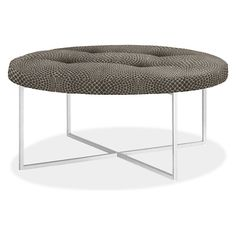 Sidney Modern Round Ottomans - Modern Fabric & Leather Ottomans - Modern Living Room Furniture - Room & Board