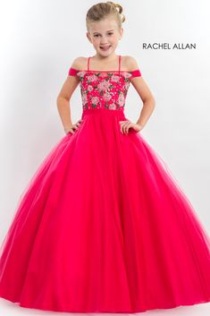 Rachel Allan Perfect Angels 1672 2020 Prom Dresses, Pageant, Homecoming and Formal Dresses Little Girl Gowns, Little Girl Pageant Dresses, Girls Fancy Dresses, Princess Prom Dresses, Gowns For Girls, Pageant Gowns, Homecoming Dresses, Pageant Hair, Dress Girl