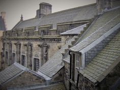 This is a photo of a rooftop at Edinburgh Castle , Scotland