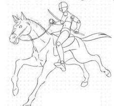 Sword fighting while riding a horse Drawing Base, Manga Drawing, Figure Drawing, Drawing Sketches, Horse Drawings, Animal Drawings, Art Drawings, Ride Drawing, Fighting Drawing