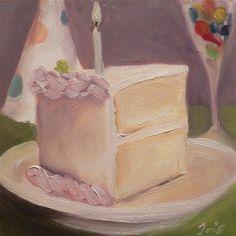 """Birthday Cake"" <3 - Original Fine Art for Sale - © by Jelena Todorovich"