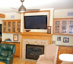 Photos Fireside Bookcase Surrounds Fireplace Surround