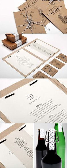 Salt Box restaurant branding | designed by  Elyse Taylor of Wander + Find #packaging #branding #marketing PD