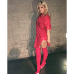 beberexha (Bebe Rexha) Bebe Rexha, Female Singers, Thigh High Boots, Stylish Girl, Thigh Highs, Shirt Dress, Chic, Celebrities, My Style