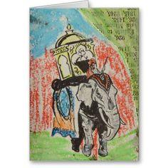 Elephant ATC Greeting Card