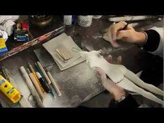 Art doll. BJD. Basic Sanding. Sanding rasps, sandpaper, sanding block and sculpting tools are used.