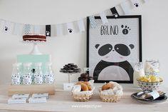Nice Party pack de fiesta para imprimir oso panda mint (3)