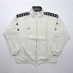 a50b0dbcb20a6 Rare Vintage 80s 90s KAPPA LOGO TAPE Taped Stripe Track Training Jacket    Old School Retro Kappa Windbreaker Large Jacket