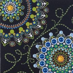 Mandala Dot Painting Canvas Panel Hand Painted Mandala 8