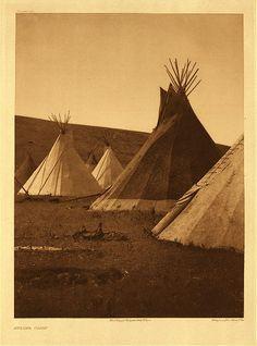 """Atsina Camp""  1908, photographed by #Edward_Curtis"