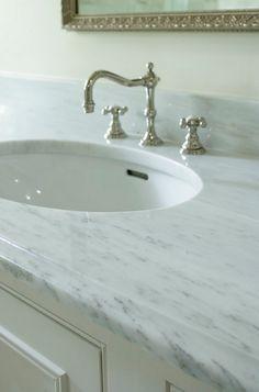 Alabama White Marble. Countertop. Marble Alabama White Marble. #AlabamaWhite #Marble Structures, Inc.