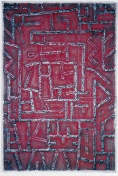 Takahiko Hayashi ~ D-18, 1996 (papermaking, painting, collage)