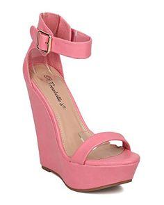 400958e9ab70e online shopping for Breckelle s Women Leatherette Platform Wedge - Dressy