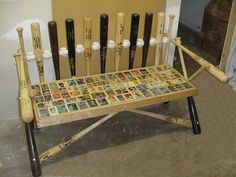 Baseball bench for outside on the deck! Imagine watching the game, drink in hang while watching the playoffs #deckmax