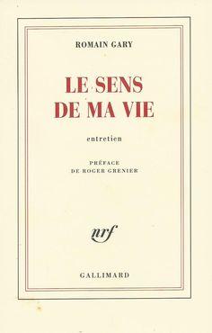 Le dernier livre de Romain Gary le sublime.