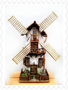 Made from tiles a windmill  - Pietro Venturini