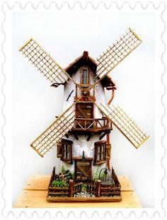 Made from tiles a windmill  - Pietro Venturini