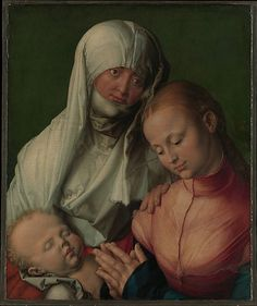 Albrecht Dürer (German, 1471–1528). Virgin and Child with Saint Anne, 1519.
