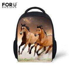 Hot Children's 3D Animal Printing Backpack Crazy Horse Small School Backpacks For Toddler Baby Boys Kids Schoolbag Child Mochila